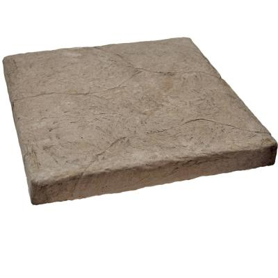 Easy Stack 23 in. x 23 in. x 1-5/8 in. Brown Manufactured Concrete Hearth/Cap Stone