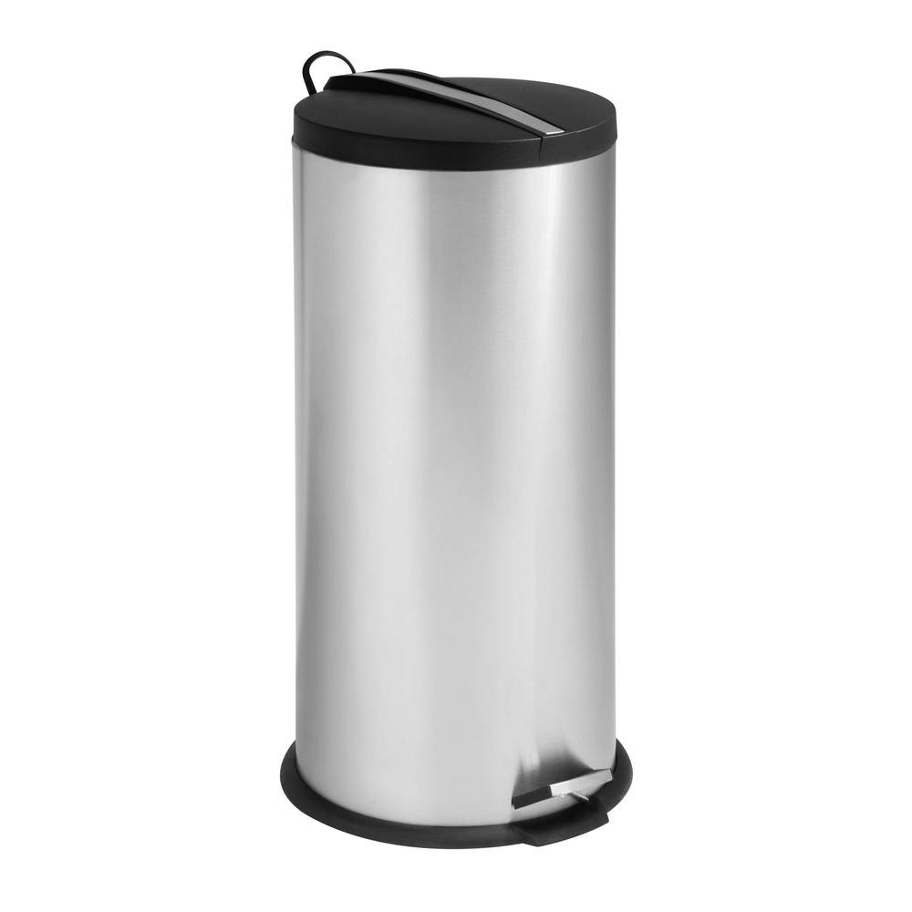 honey can do stainless steel trash cans trs 02112 64_1000 stainless steel trash cans trash cans the home depot HDX Outdoor Trash Can at creativeand.co