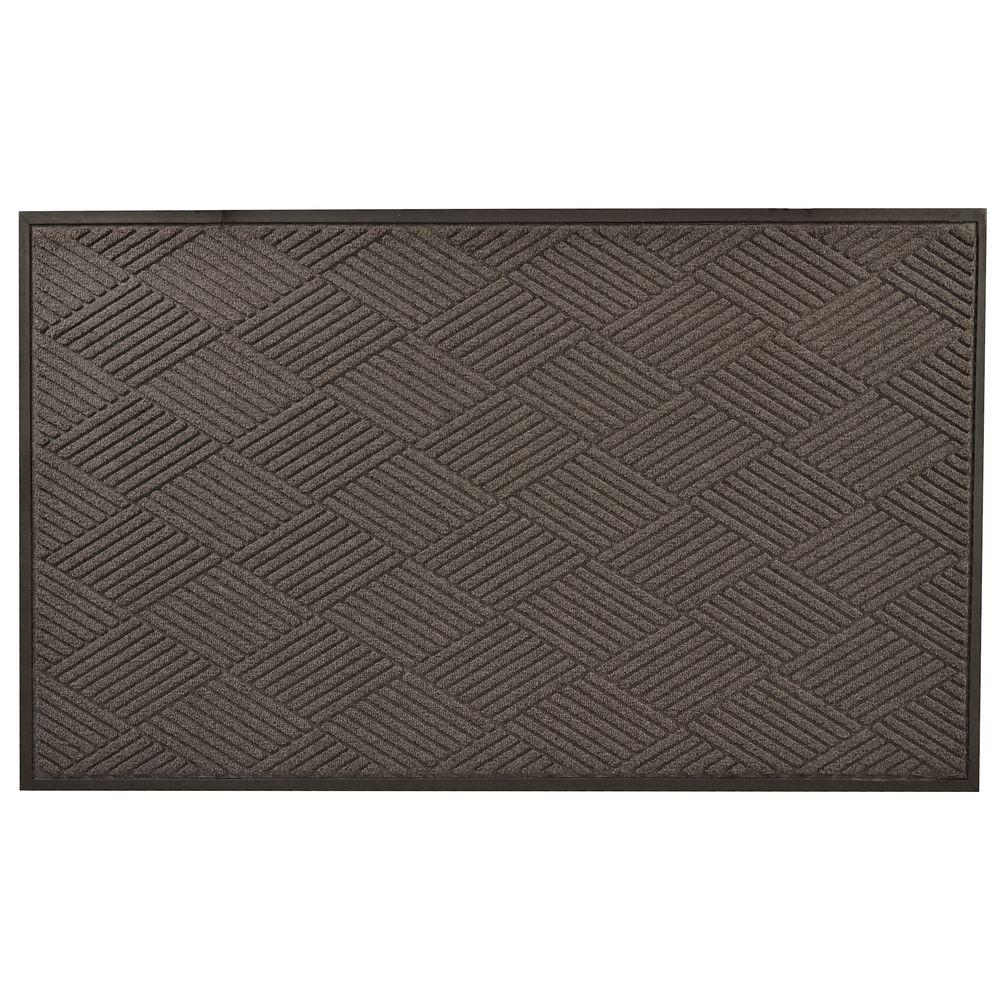 Opus Charcoal 36 in. x 48 in. Rubber-Backed Entrance Mat
