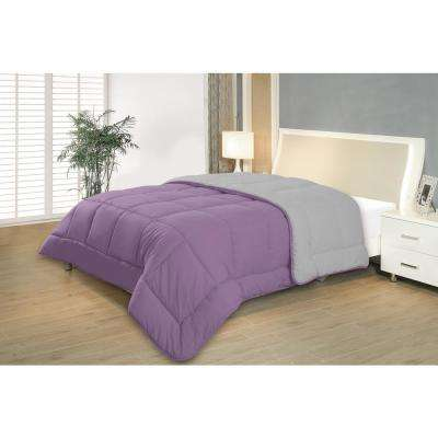 Reversible Purple/Gray Full/Queen Down Alternative Comforter