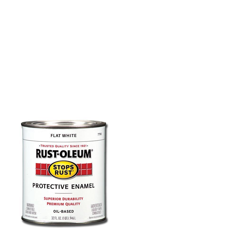 1 Qt. Protective Enamel Flat White Interior/Exterior Paint