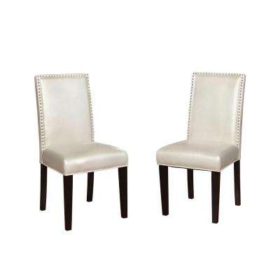 Stewart Pewter PU Dining Chair (Set of 2)