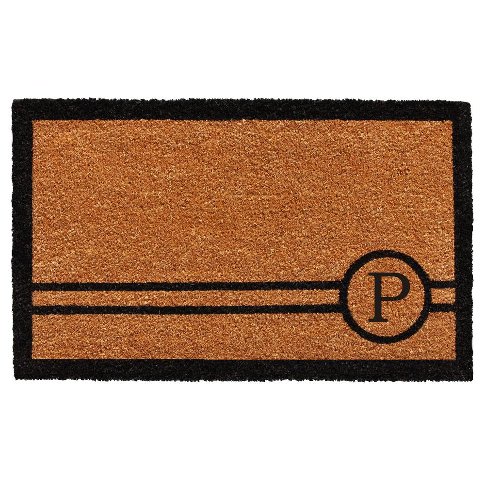Chelsea 18 in. x 30 in. Monogram P Door Mat