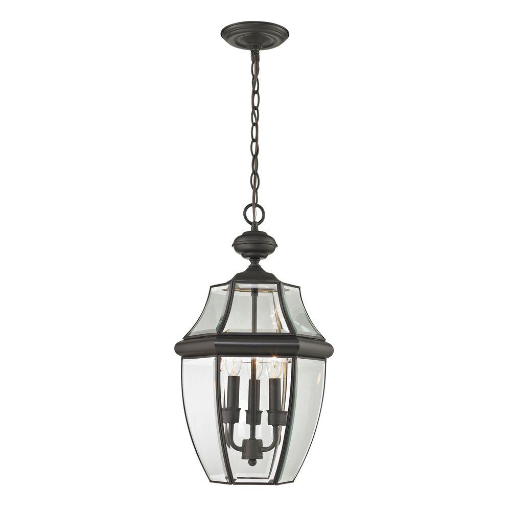 Titan Lighting Ashford 3-Light Oil Rubbed Bronze Outdoor
