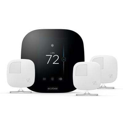 3 Smart Thermostat and 3 Room Sensors Value Pack