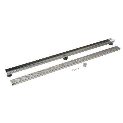 Designline 60 in. Stainless Steel Linear Drain Wave Grate
