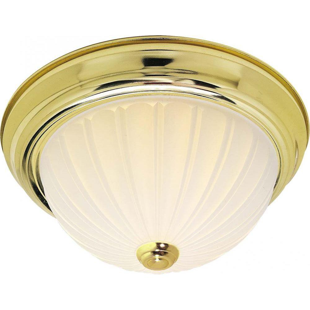 Tony 2-Light Polished Brass Flush Mount