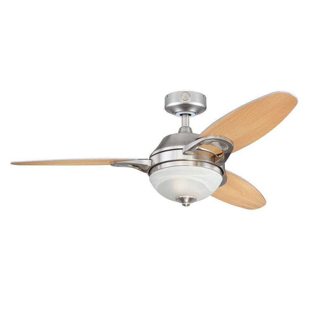 Arcadia 46 in. Brushed Nickel Indoor Ceiling Fan