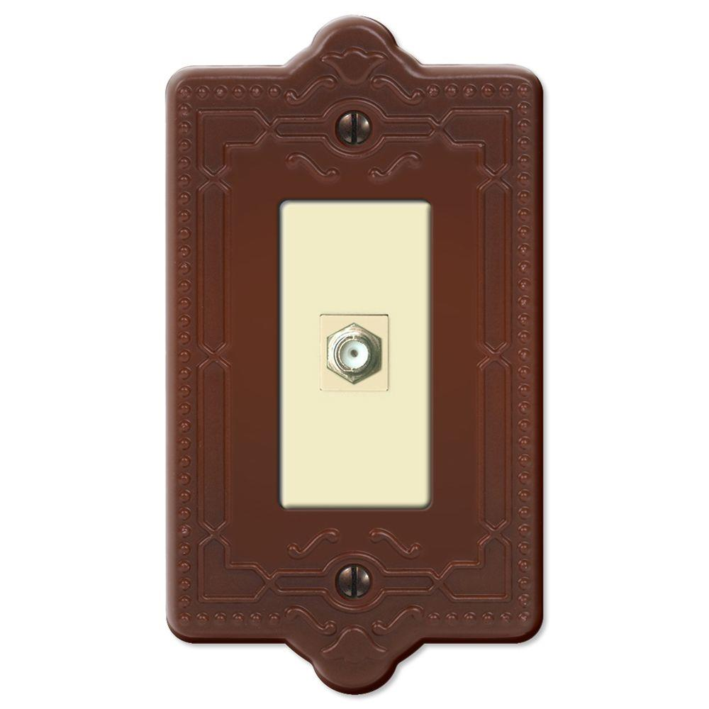 Creative Accents Steel 1 Video Wall Plate - Rust
