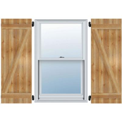 x 43in Homeside 4 Board and Batten Joined Shutter 1 Pair 14-1//2in 050 Black