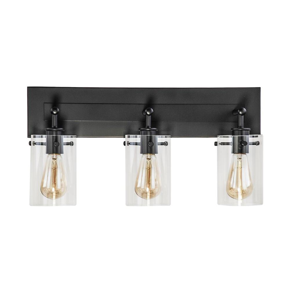 DSILighting DSI Lighting 21 in. 3-Light Espresso Vanity Light with Clear Glass Shades