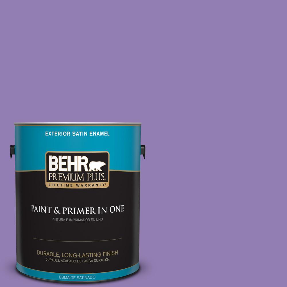 1 gal. #PPU16-04 Purple Agate Satin Enamel Exterior Paint