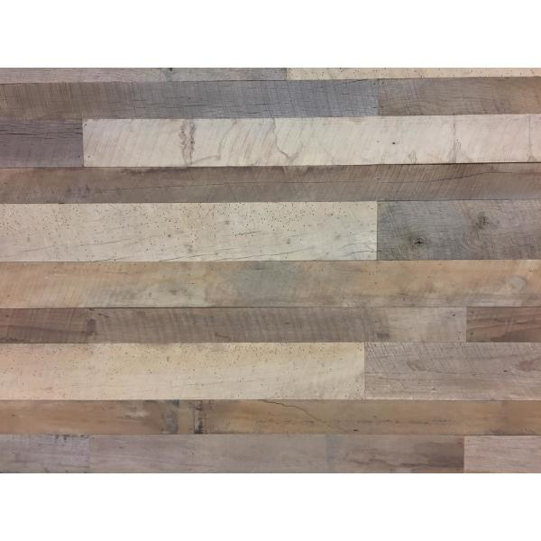 27 sq. ft. Mixed Width Original Face Reclaimed Barn Wood 6 ft. Long Plank Wall Paneling Kit