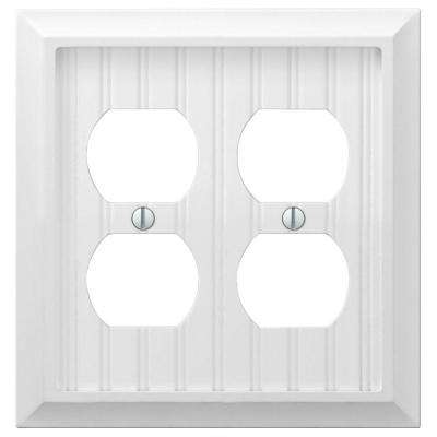 Cottage 2-Gang Duplex Wall Plate - White