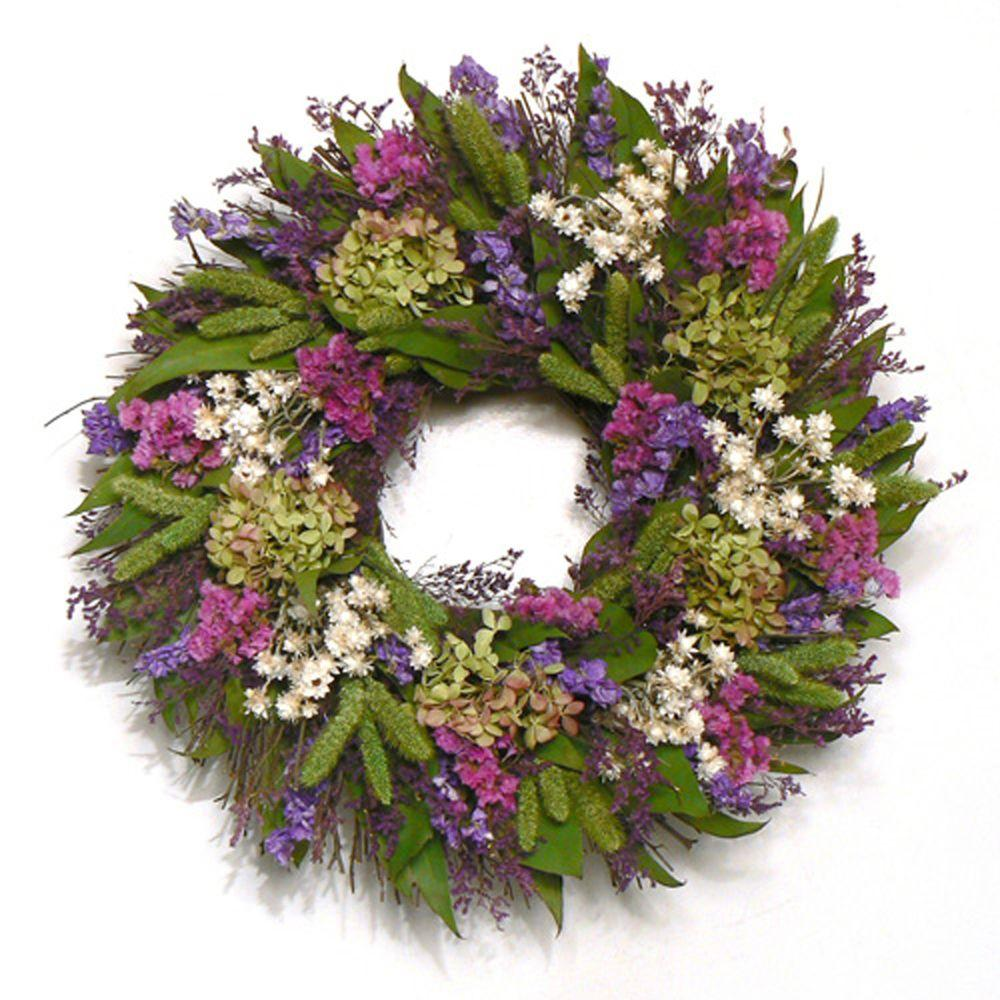 The Christmas Tree Company Cheerful Spring 16 in. Dried Floral Wreath