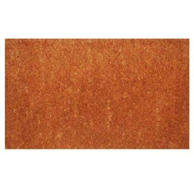 Natural 24 in. x 48 in. Coir and Vinyl Door Mat
