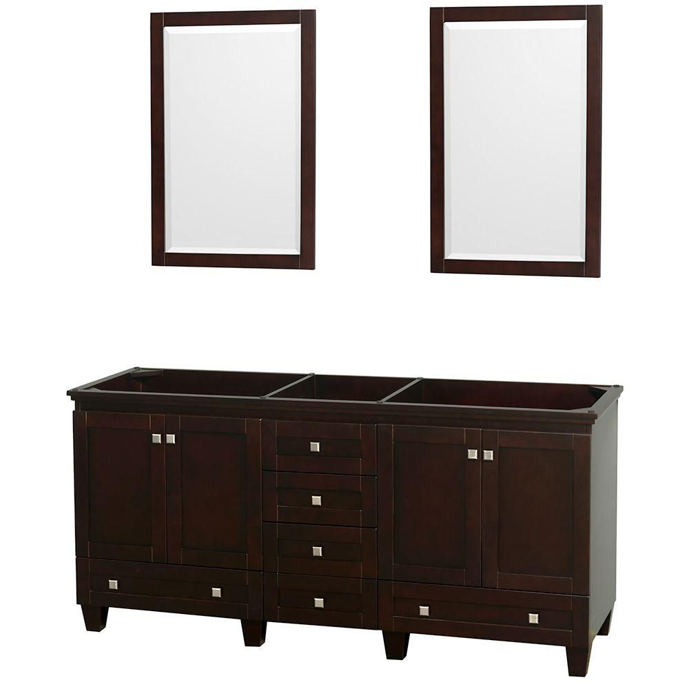 5 foot double vanity. Double Vanity Cabinet with 2 Mirrors in Espresso Avanity Modero 72  Only Chilled Gray