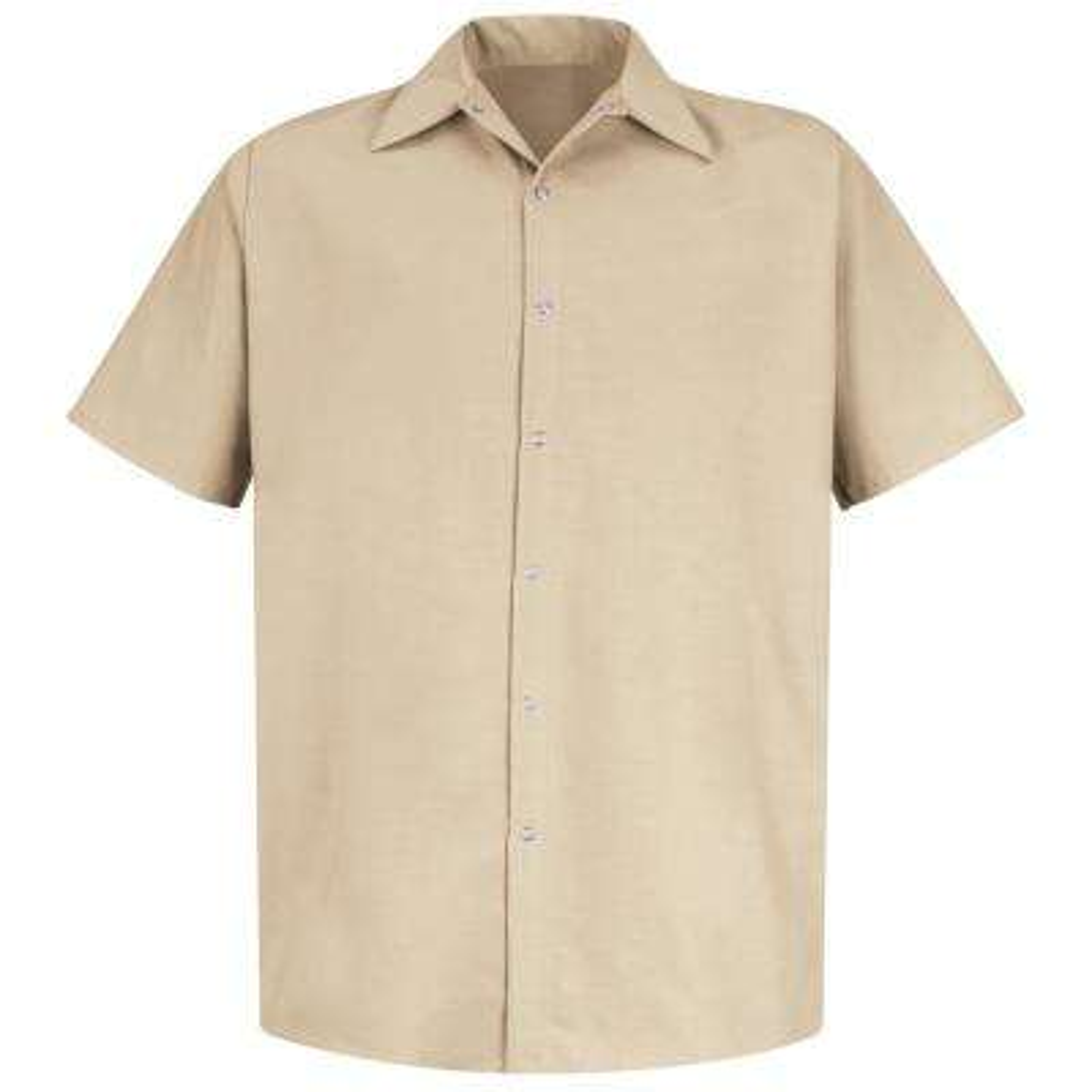 Men's Size 3XL Light Tan Specialized Pocketless Work Shirt