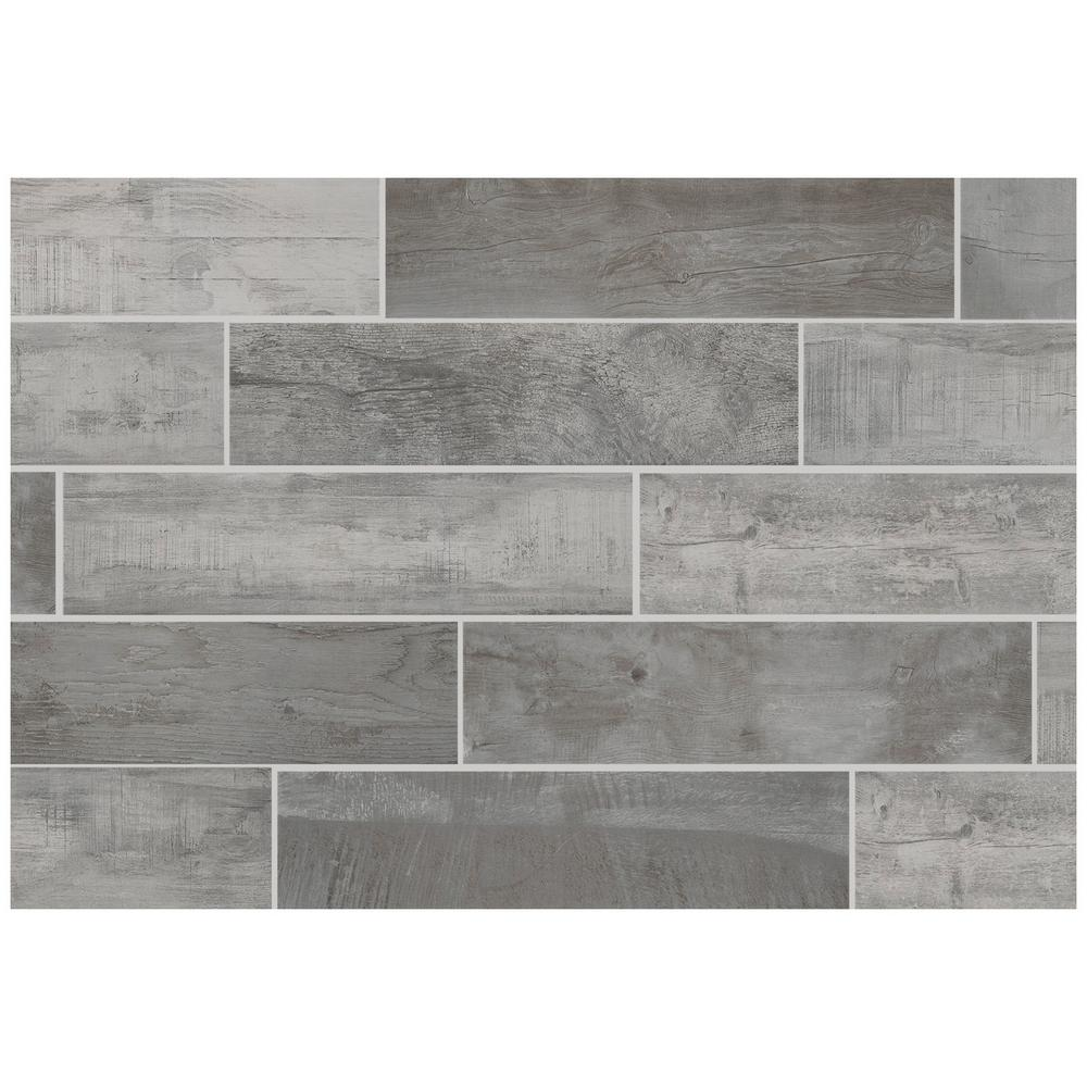 Florida Tile Home Collection Wind River Grey 6 in. x 24 in ...