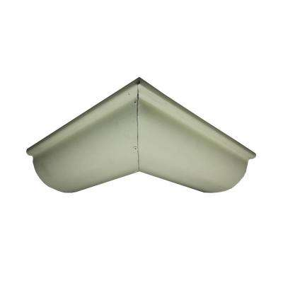 6 in. Half Round Cream Aluminum Outside Miter