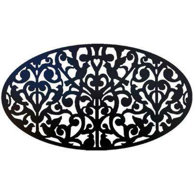 Black Oval Ginger Dove Decorative Privacy Panel