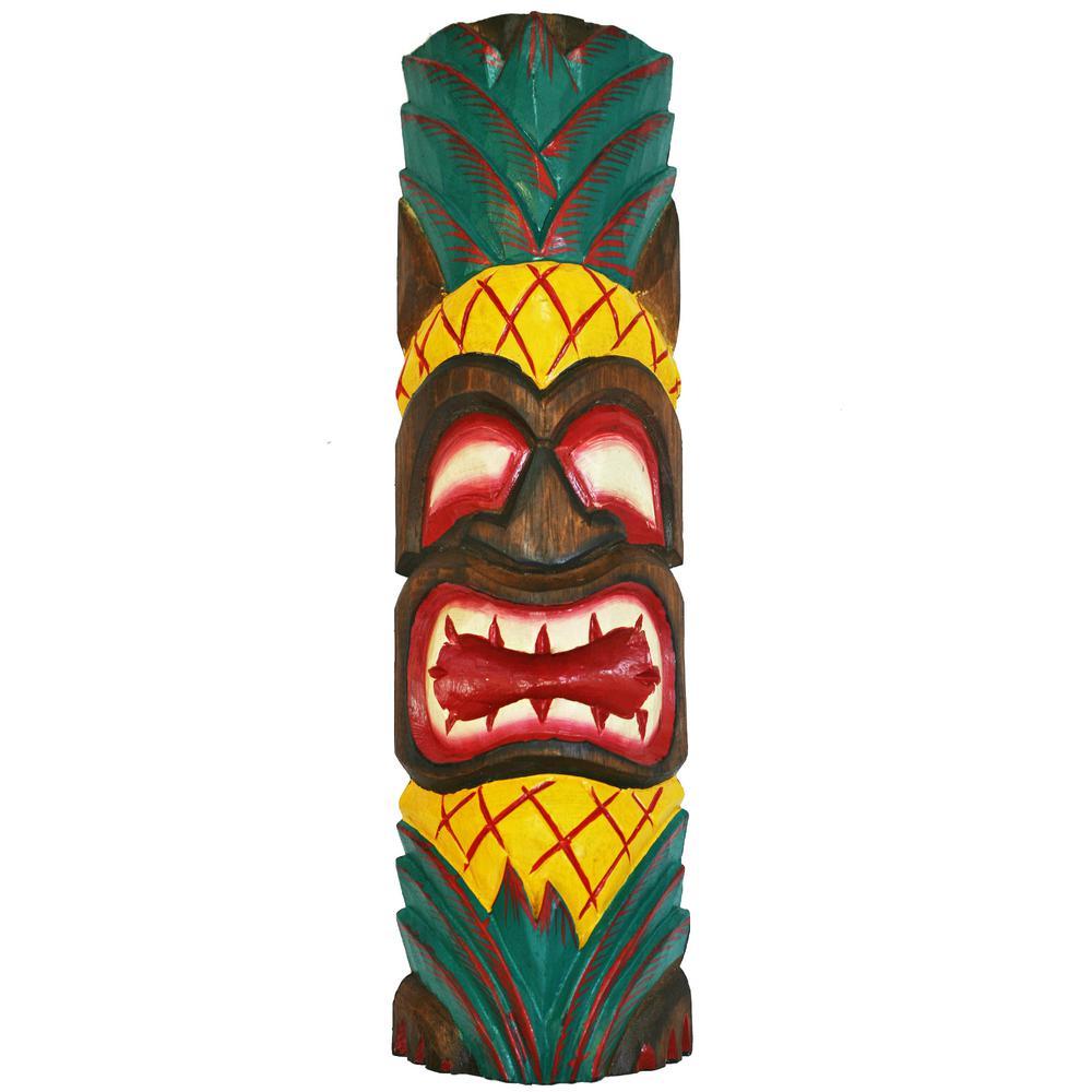 20 in. Tiki Mask Pineapple Ku Tropical Wall Decor
