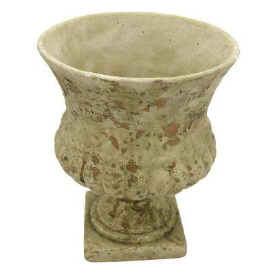 9.75 in. Medium Gray Footed Urn