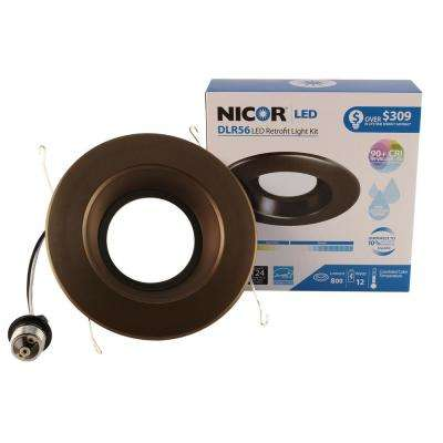 D-Series 6 in. Oil-Rubbed Bronze 800 Lumen Integrated LED Recessed Trim Kit in 5000K