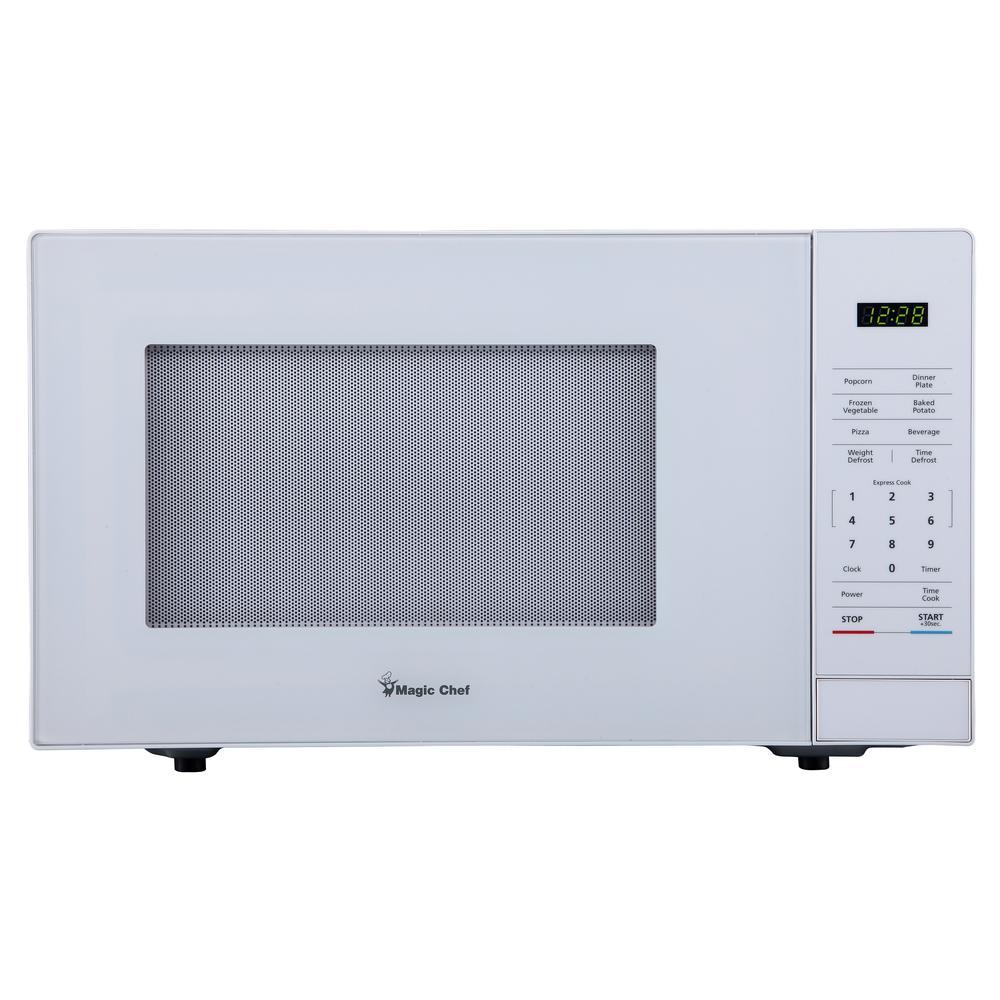 Magic Chef 1 1 Cu Ft Countertop Microwave In White