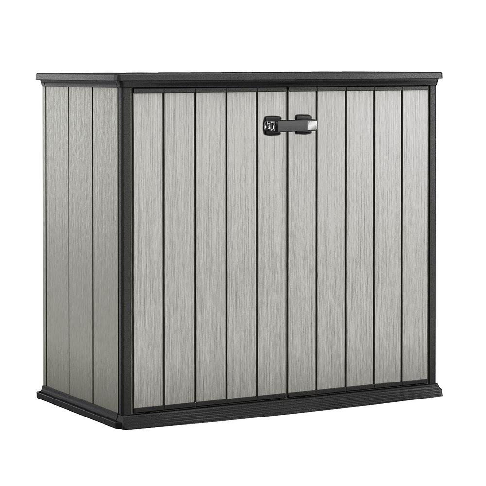 Keter Patio Store 4.6 ft x 2.6 ft x 3.11 ft Resin Horizontal Storage Shed