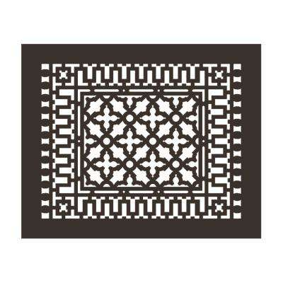 Scroll 18 in. x 14 in. Aluminum Grille without Mounting Holes, Oil Rubbed Bronze