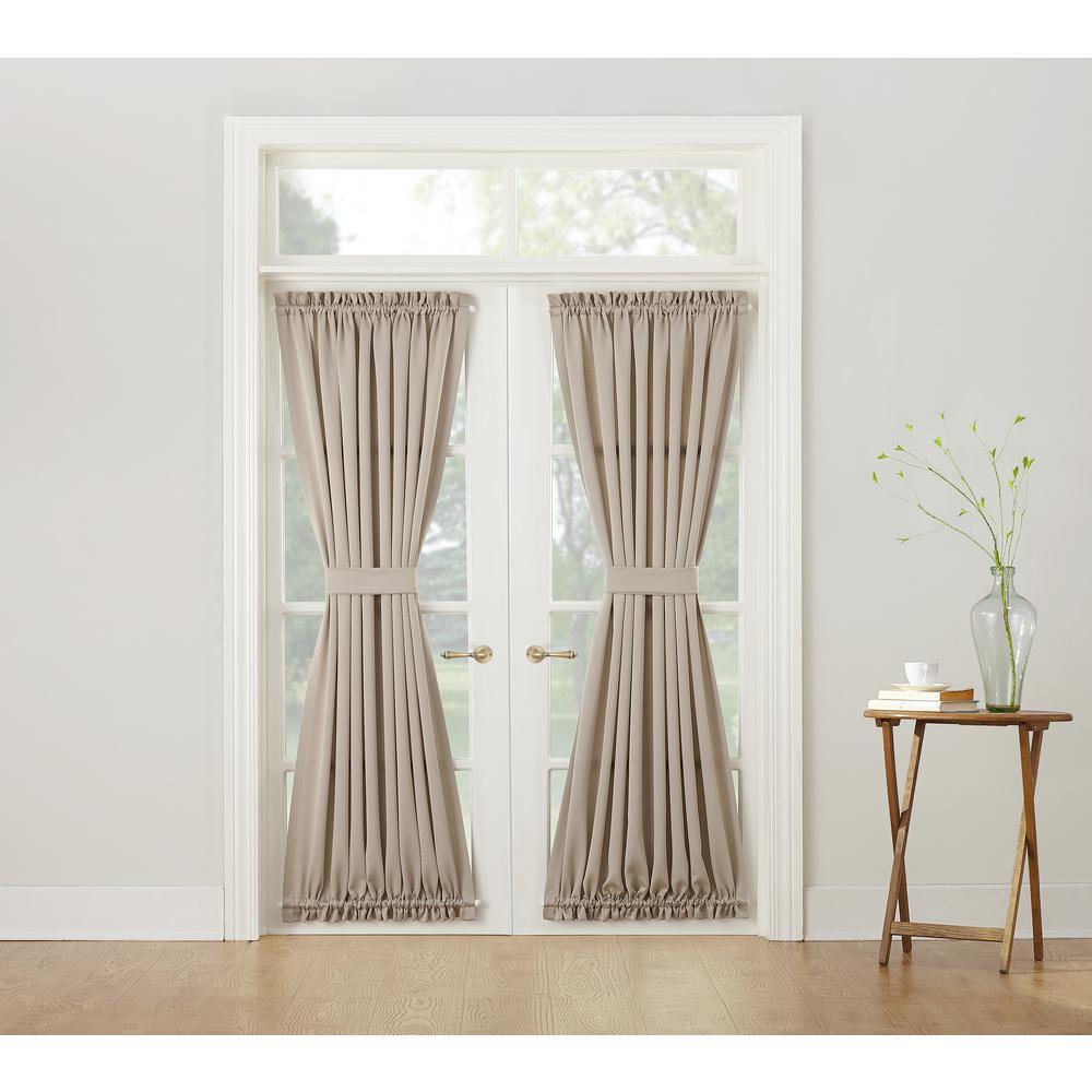 Semi-Opaque Gregory Stone Room Darkening Door Panel Curtain