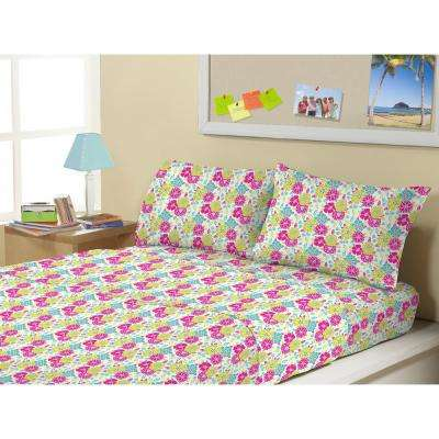 Mattie Flowers Microfiber Twin 3-Piece Sheet Set