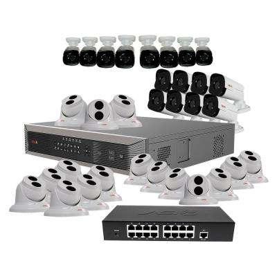 Ultra Plus HD Commercial Grade 32-Channel 8TB NVR Surveillance System with 32 4-MP Cameras & 32 100 ft. CAT5E