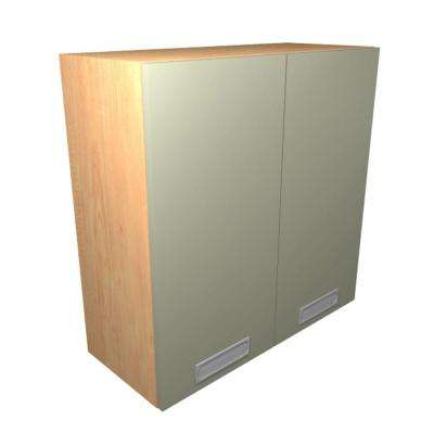 Genoa Ready to Assemble 36 x 38 x 12 in. Wall Cabinet with 2 Soft Close Doors in Almond