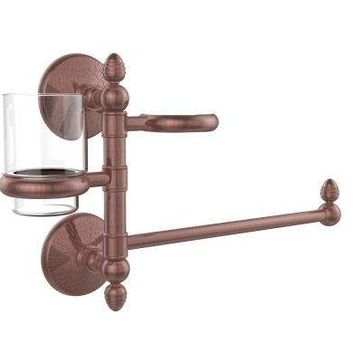 Monte Carlo Collection Hair Dryer Holder and Organizer in Antique Copper