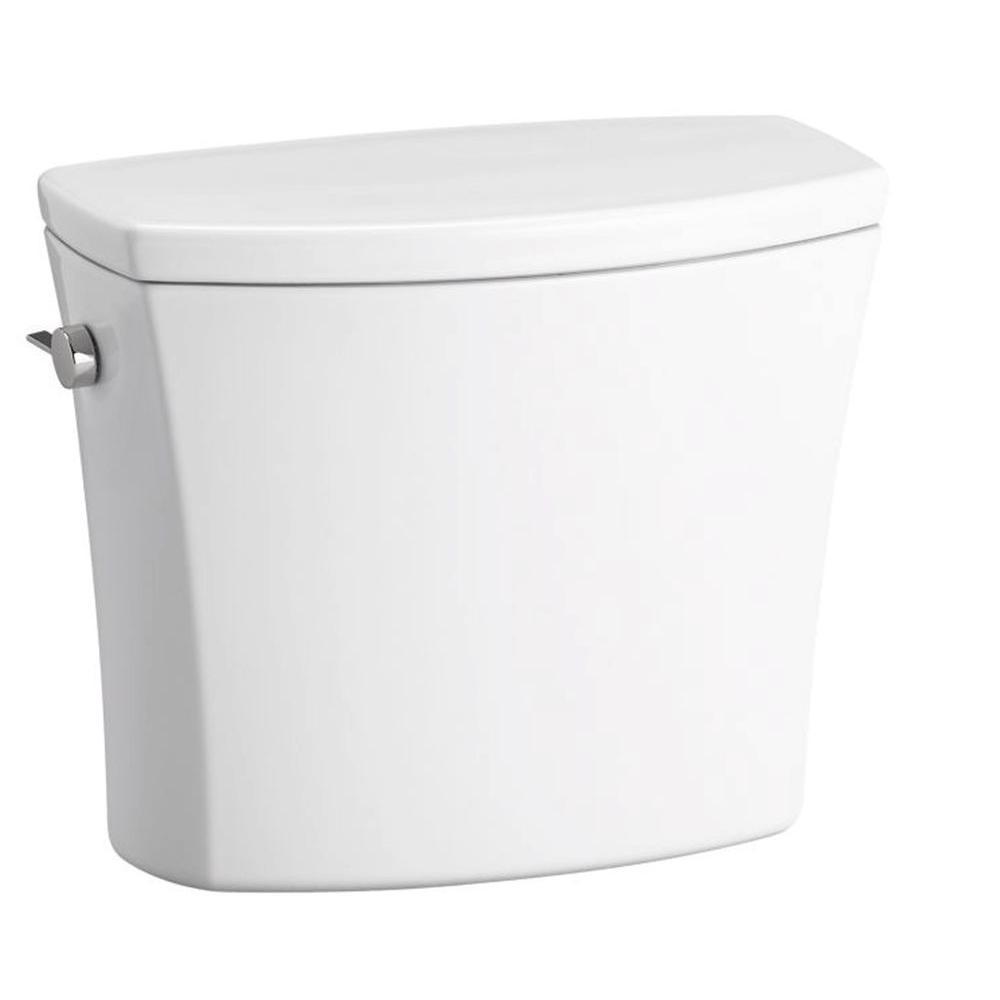 KOHLER Kelston 1.28 GPF Single Flush Toilet Tank Only with AquaPiston Flushing Technology in White