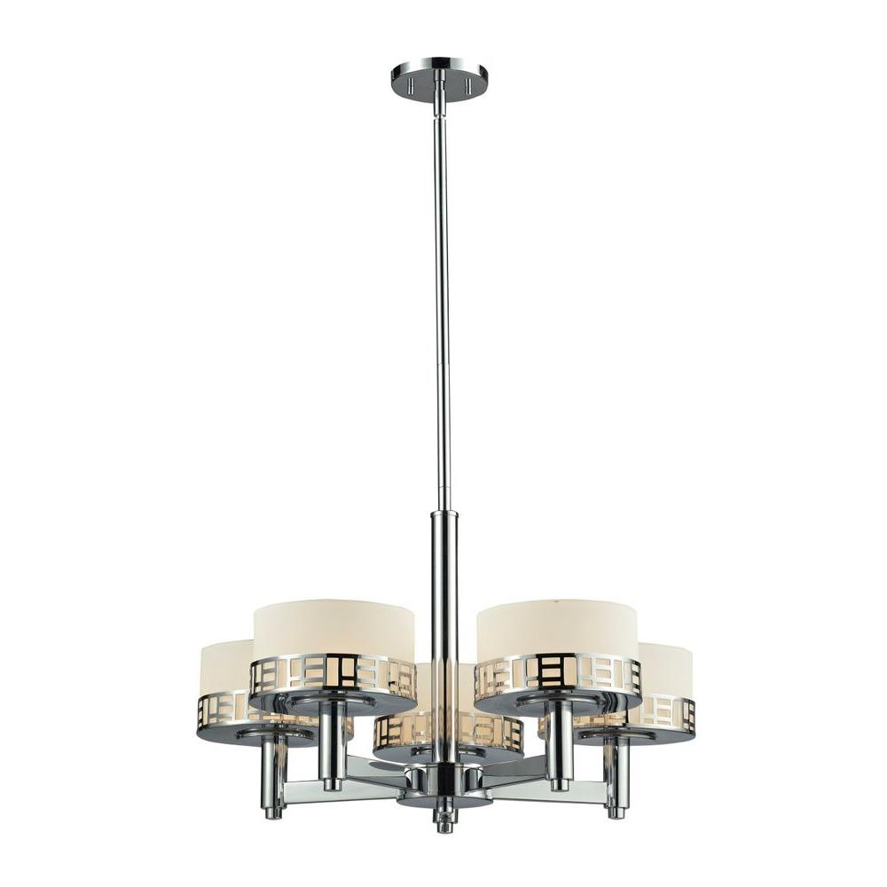 Velia 5-Light Chrome Chandelier
