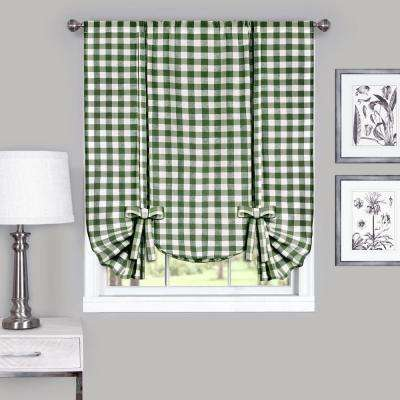 42 in. W x 63 in. L Buffalo Sage Cotton Tie Up Shade Curtain