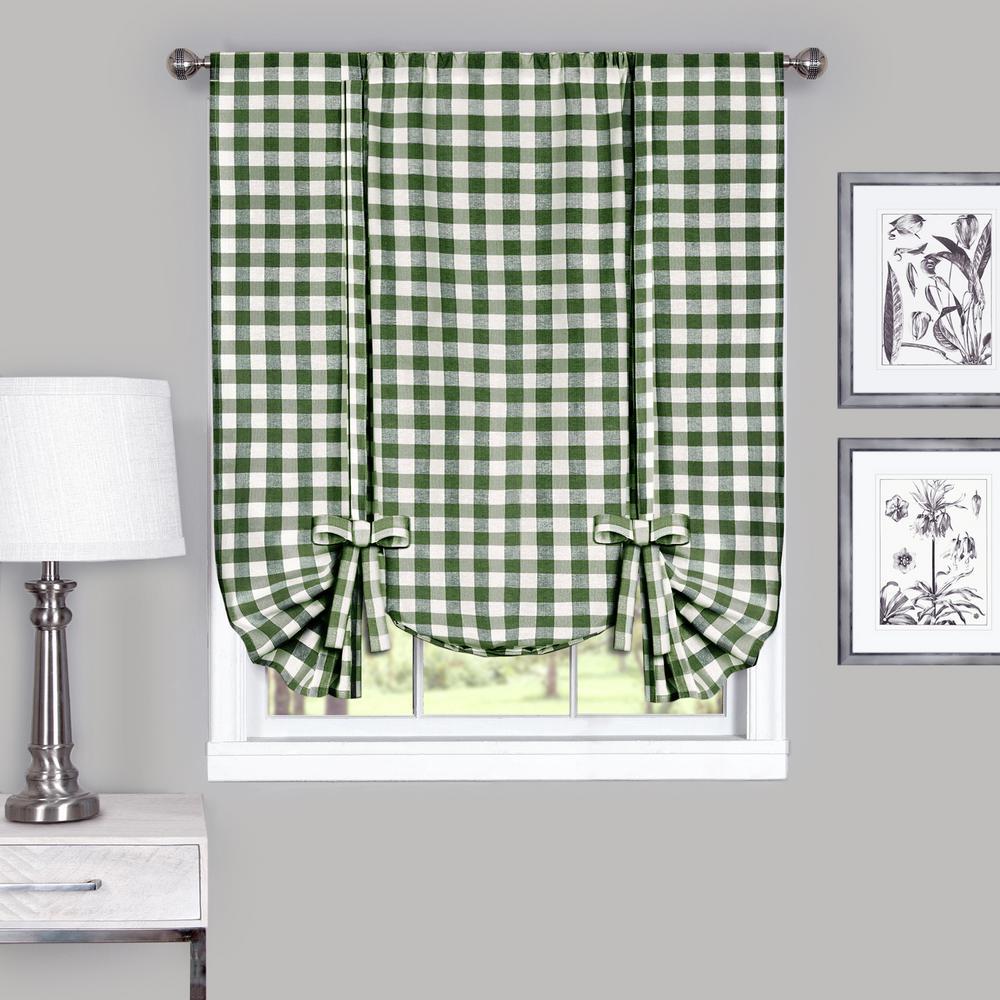 42 in. W x  x 63 in. L Buffalo Sage Cotton Window Curtain Horizontal Fabric Roman Shade