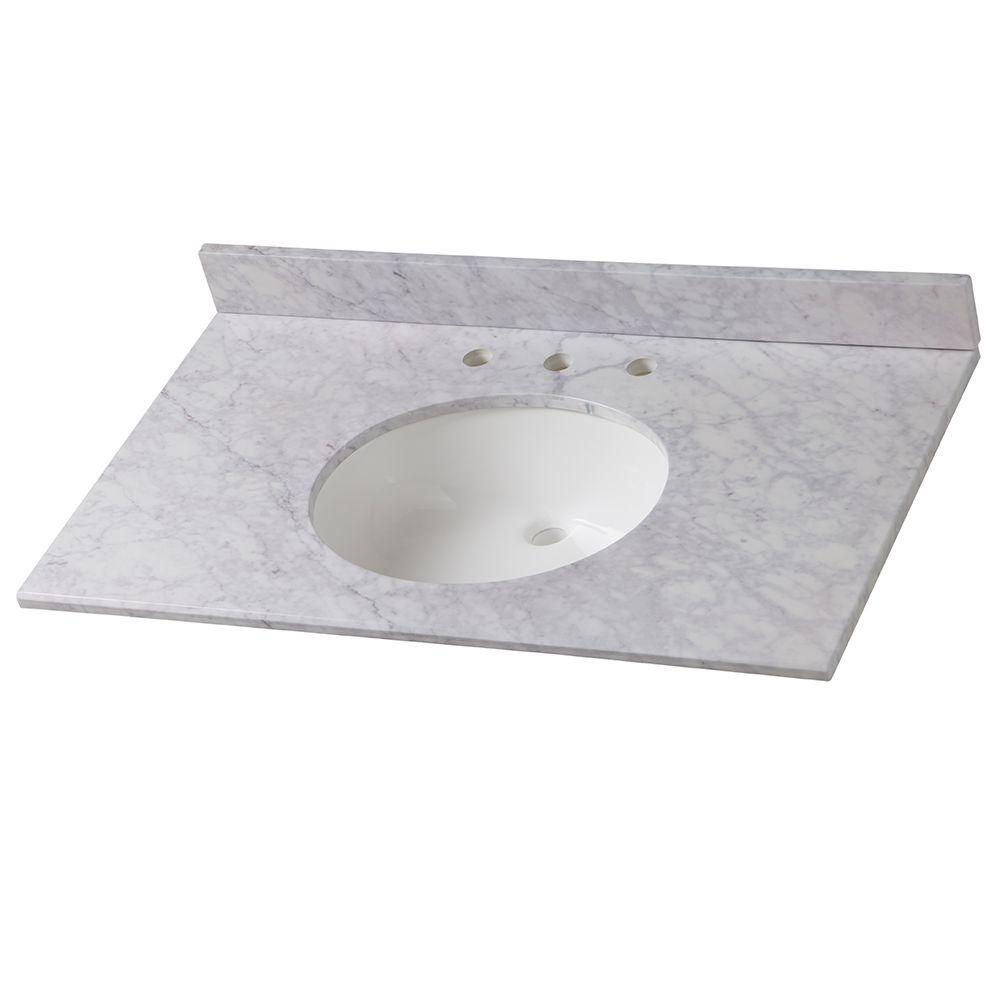 Home Decorators Collection 37 In W Stone Effects Vanity Top Carrera