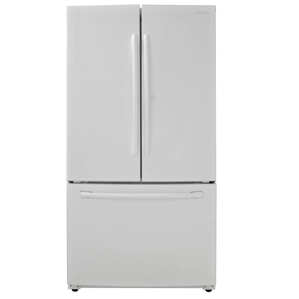 samsung 25 5 cu ft french door refrigerator in white rf260beaeww the home depot. Black Bedroom Furniture Sets. Home Design Ideas