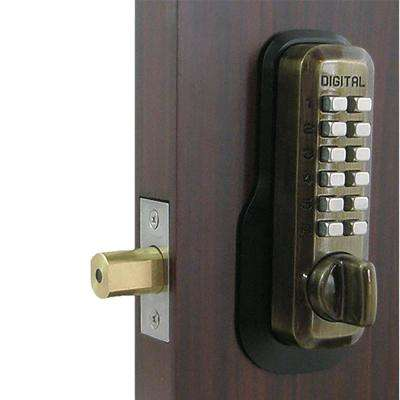 Single Cylinder Antique Brass Digital Keypad Deadbolt