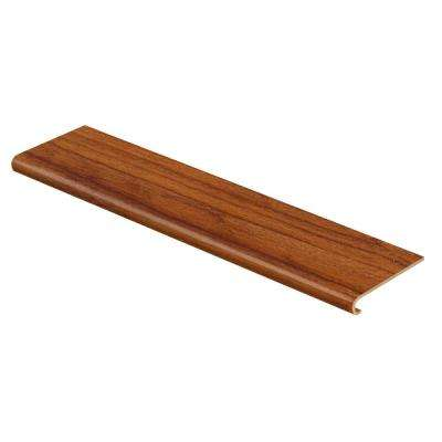 Red Cherry/Warm Cherry 47 in. Long x 12-1/8 in. Deep x 1-11/16 in. Height Vinyl Overlay to Cover Stairs 1 in. Thick