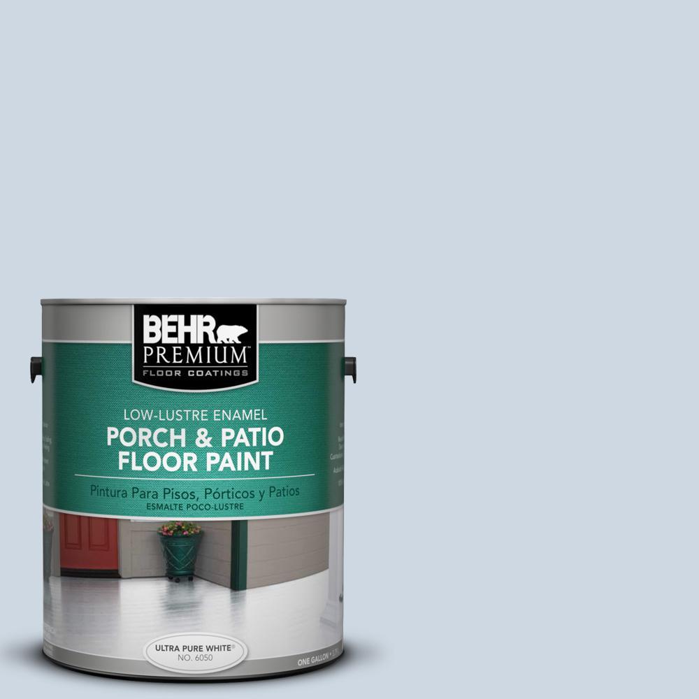 1 gal. #S520-1 Pale Cornflower Low-Lustre Interior/Exterior Porch and Patio Floor Paint