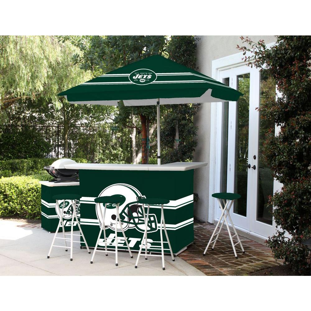 Best Of Times New York Jets All Weather Patio Bar Set With