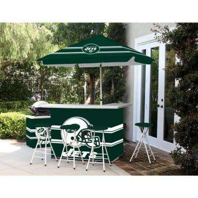 New York Jets All-Weather Patio Bar Set with 6 ft. Umbrella