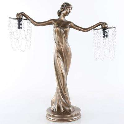 23.75 in. Bronze Grecian Goddess Lamp