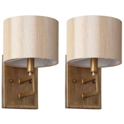 Catena 2-Light Antique Gold Sconce (Set of 2)