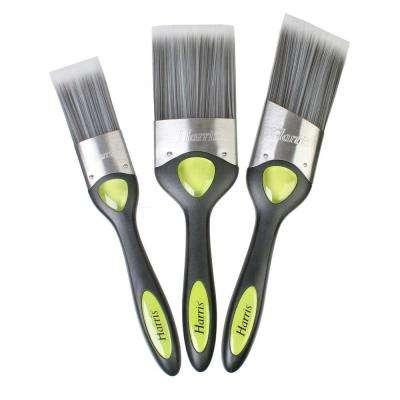1.5 in. Flat, 2.5 in. Flat, 2 in. Angled GEL ID Paint Brush Set (3-Pack)
